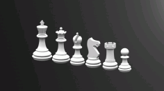 Chess Game King Free DXF File