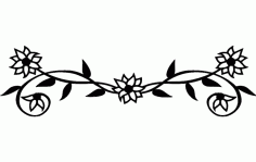Flowers in line Free DXF File