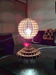 Lamp With Globe Free DXF File