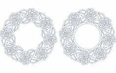 Rose Frame Free DXF File