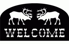 Welcome Moose Free DXF File