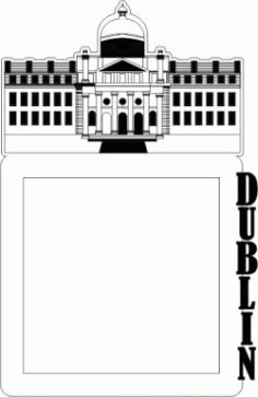 Picture Frame Of Dublin Building Free CDR Vectors Art