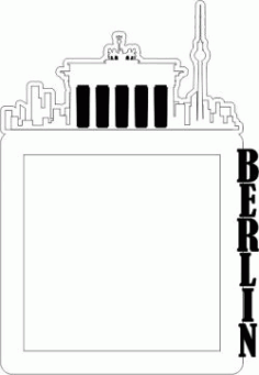 Picture Frame Of The Berlin Building Free CDR Vectors Art
