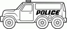 Police Cars Catch Criminals Free CDR Vectors Art