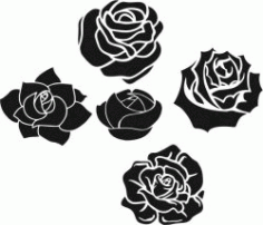 Romantic Rose Pattern Download For Laser Engraving Machines Free CDR Vectors Art