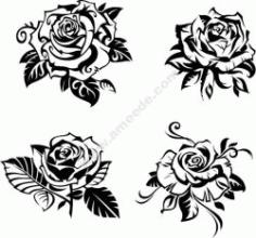 Rose Carving Free CDR Vectors Art
