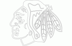 chi-town Hawk (chicago Blackhawks) Free DXF File