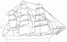 Clipper Ship Free DXF File