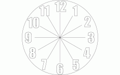 Clock Free DXF File