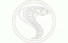 Cobra In Circle Free DXF File
