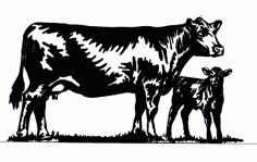 Cow Free DXF File