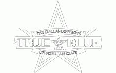 Dallas Cowboys Fan Club Free DXF File