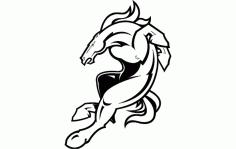 Denver Broncos Logo Free DXF File