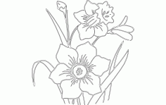 Flower Daf Free DXF File