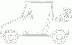 Golf Cart Free DXF File