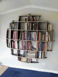 Spherical Bookshelves Free DXF File