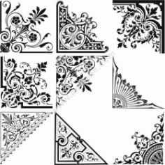 Set Of Corner Decoration Free CDR Vectors Art