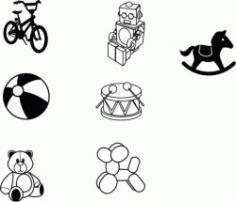Sketches Of children's Favorite Toy Models Free CDR Vectors Art