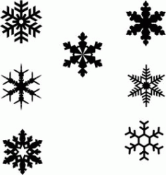 Snowflakes Designs To Decorate The Christmas Tree Free CDR Vectors Art
