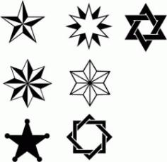 Star Stroke Texture Free CDR Vectors Art