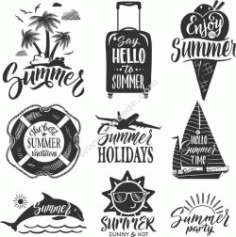 Summer Set Free CDR Vectors Art