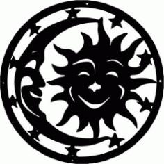 Symbol Drawing Moon And Sun Free CDR Vectors Art