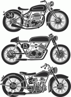 The Old Motorbikes Have Strange Unique Designs Free CDR Vectors Art