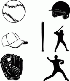 The Symbol Of Your Favorite Baseball Team Free CDR Vectors Art