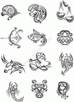 The Zodiac Free CDR Vectors Art