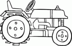 Tractor Head Drawing Free CDR Vectors Art