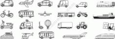 Transport Line Art Set Free CDR Vectors Art