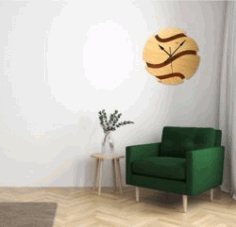 Basketball Shaped Wall Clock For Laser Cut Cnc Free DXF File
