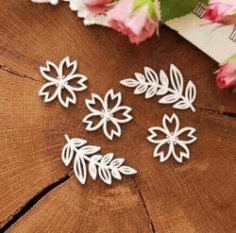 Decoration Flowers For Laser Cut Plasma Free DXF File