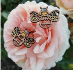 Earrings Shaped Like A Bee For Laser Cut Free DXF File