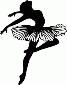 Female Dancer Bale For Laser Cut Plasma Free DXF File
