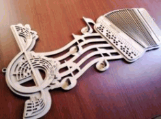 Key Hangs Shaped Like Music Notes For Laser Cut Cnc Free DXF File