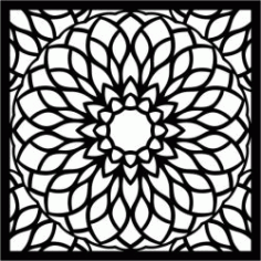 Manlada Decorative Motifs For Laser Cut Plasma Decal Free DXF File