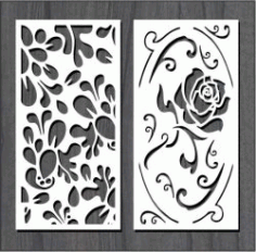 Roses In Leaf Dust For Laser Cut Cnc Free DXF File