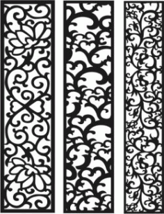 Vertical Column Pattern For Laser Cut CNC Free DXF File