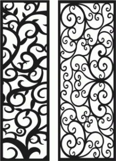 Vines Pattern Looks Glitzy For Laser Cut CNC Free DXF File