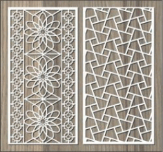 Broken Glass Pattern Wall Flower Pattern For Laser Cut Cnc Free DXF File