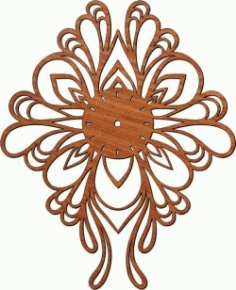 Butterfly Shaped Wall Clock For Laser Cut Plasma Free DXF File