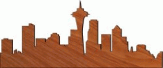 City Center For Laser Cut Plasma Free DXF File