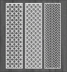 Design Interwoven Column Bulkhead For Laser Cut Cnc Free DXF File