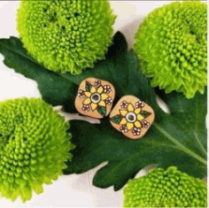 Earrings Shaped Flower For Laser Cut Free DXF File