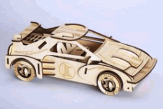 Formula 1 Racing Assembly Model For Laser Cut Cnc Free DXF File