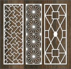 Glass Frame Column Pattern For Laser Cut Cnc Free DXF File