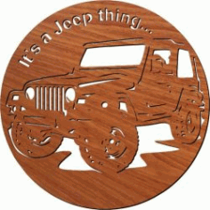 Jeep Car Wall Clock For Laser Cut Plasma Free DXF File