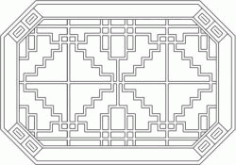 Octagonal Baffle Design Template For Laser Cut Cnc Free DXF File
