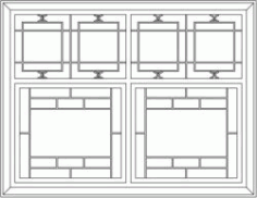 Oriental Cabinet Design Template For Laser Cut Cnc Free DXF File